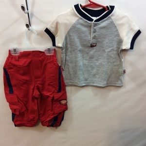 Semase Street Infant Boy Top & Short Set 12 mo NWT